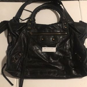 Authentic!! MOTO Balenciaga leather bag!